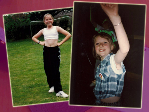 The Sporty Spice Phase. On the right = the week of my diagnosis. Happy Birthday to me.