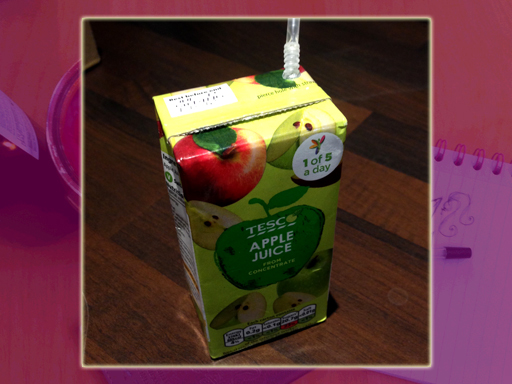 Just a teeny tiny little box of juice...